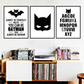 Batman Cartaz Citação Arte Da Lona Pintura de Impressão, Retratos da parede para a Decoração Home, Decoração da parede FA246-1/2/3