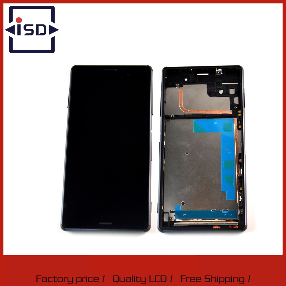 ФОТО Black LCD Screen For Sony for Xperia Z3 L55T L55U D6653 LCD Touch Digitizer Screen Assembly Replacement with Frame
