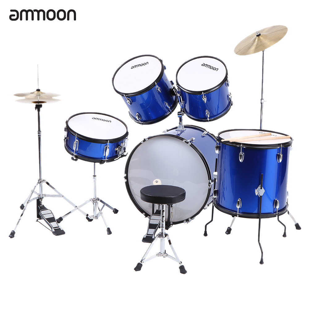 Aliexpress.com  Buy ammoon 5 Piece Complete Adult Drum Set Drums Kit Percussion with Cymbals Drumsticks Stands Adjustable Stool from Reliable drum kit ...  sc 1 st  AliExpress.com & Aliexpress.com : Buy ammoon 5 Piece Complete Adult Drum Set Drums ... islam-shia.org