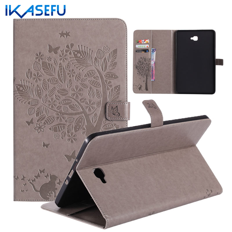 IKASEFU tpu Silicone Back Case Cover Capa for Samsung Galaxy Tab A6 10.1 2016 PU Leather Coque fundas For Galaxy Tab A 10.1 T580 t700 soft tpu rubber cover semi transparent back case for samsung galaxy tab s 8 4 t700 t705c silicone case