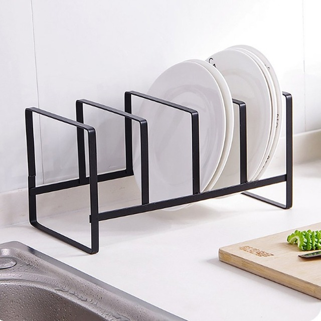 kitchen drying rack granite table metal dish shelf vertical bowl multifunction drain storage holder home organizer
