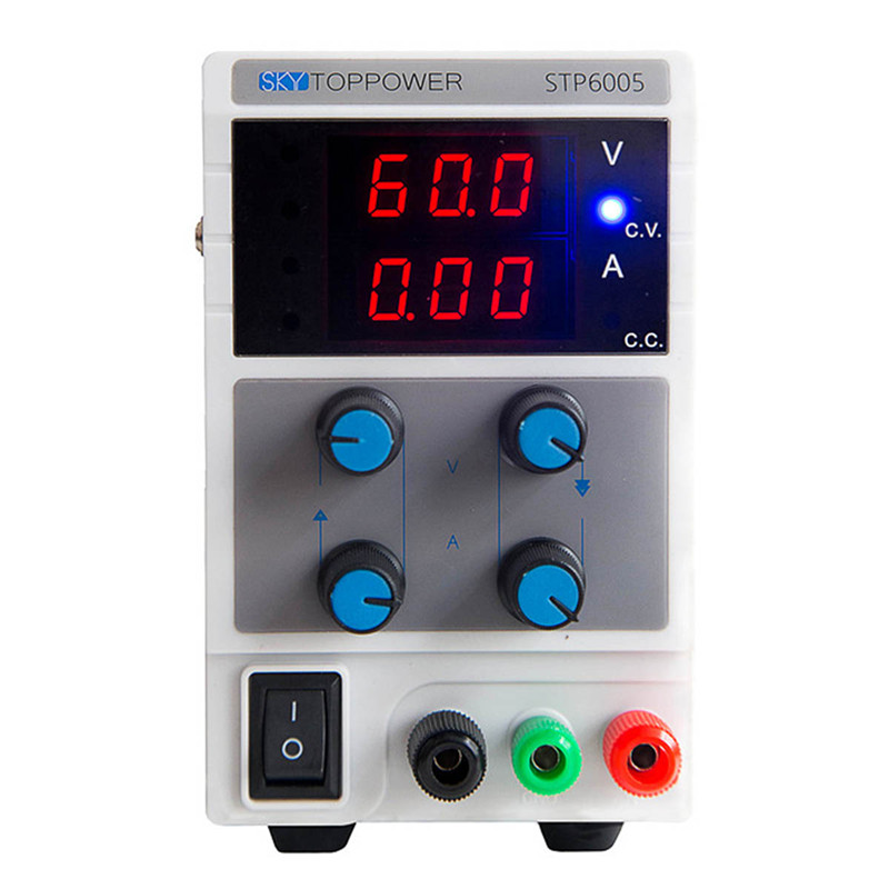 Professional DC power supply STP6005 Adjustable laboratory 220V voltage regulator from SKYTOPPOWER 0-5A/0-60V lm317 adjustable dc power supply voltage diy voltage meter electronic training kit parts