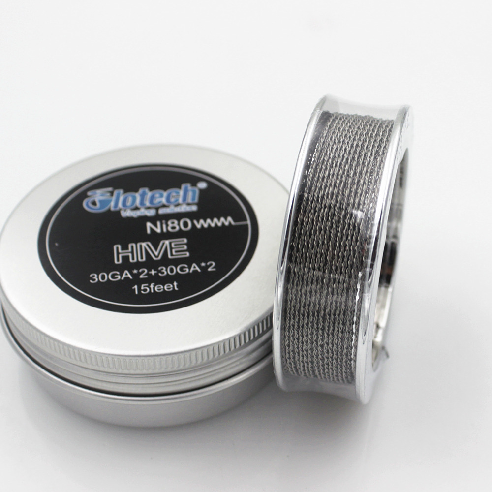 Glotech Ni80 Alien Tiger Fused Clapton Heating Wire Hive Twisted Mixed Twisted Coil Wire for DIY RDA RBA Atomizer Building Coils