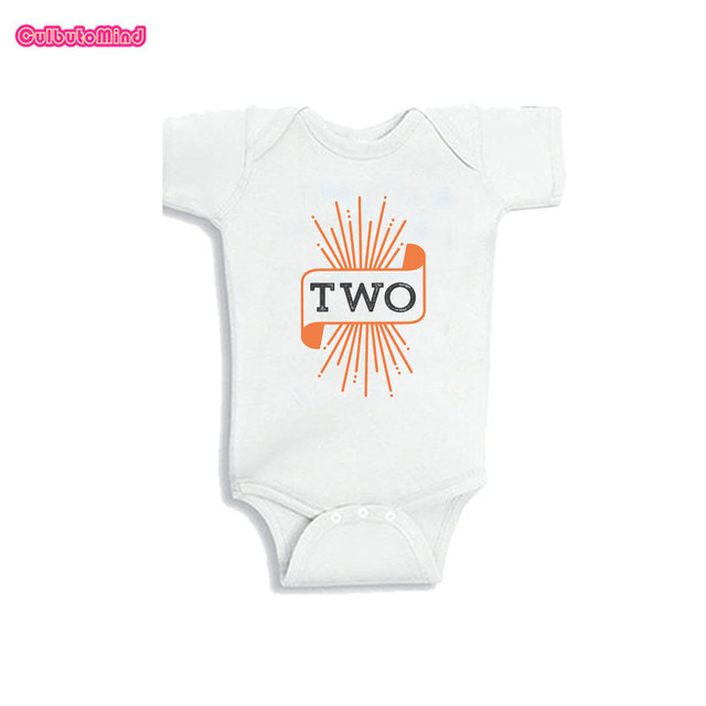 Culbutomind Halloween Birthday Shirt For 2nd Two Year Old Body Suit One Piece Baby Outfit Second 0 12M