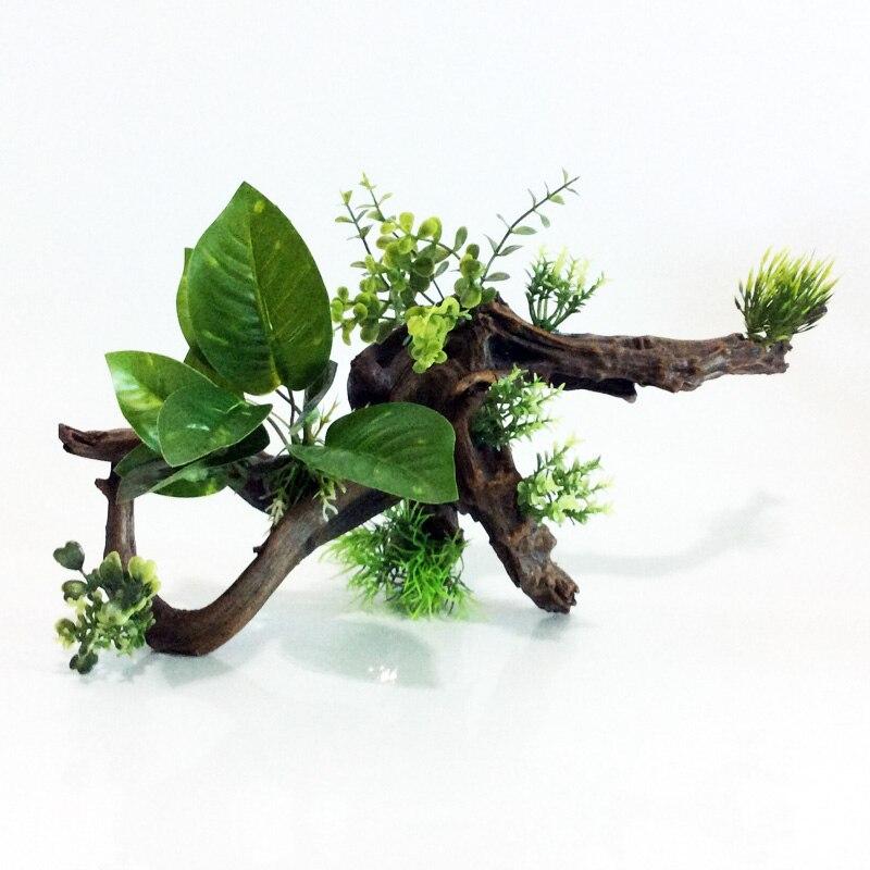 Acuario de imitación de raíces de madera tronco tanque de peces de acuario Decoración-in Decoraciones from Hogar y Mascotas    1