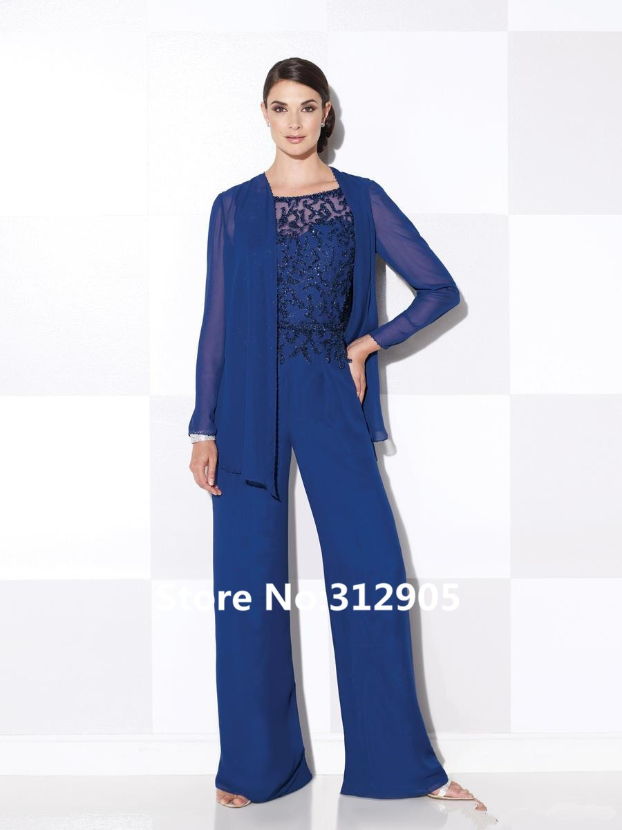 2016%20115620%203pc%20Mother%20of%20the%20Bride%20Pant%20Set%20Royal%20Blue%20Three%20Pieces%20Chiffon%20Suit%20With%20Beading%20Detail_