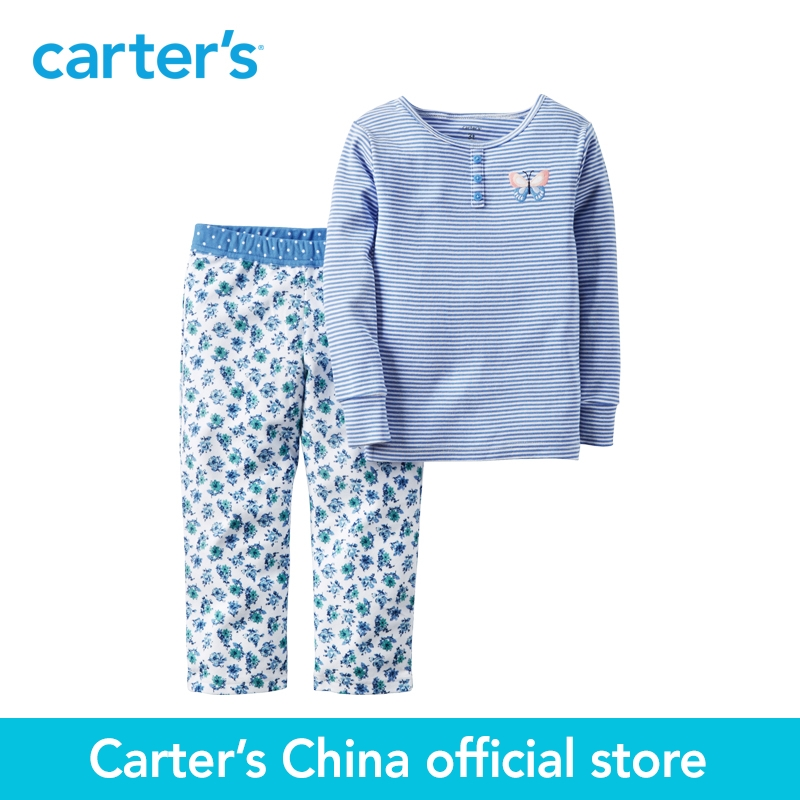 Carter's 2pcs baby children kids Cotton & Microfleece PJs 377G112,sold by Carter's China official store carter s 1 pcs baby children kids long sleeve embroidered lace tee 253g688 sold by carter s china official store
