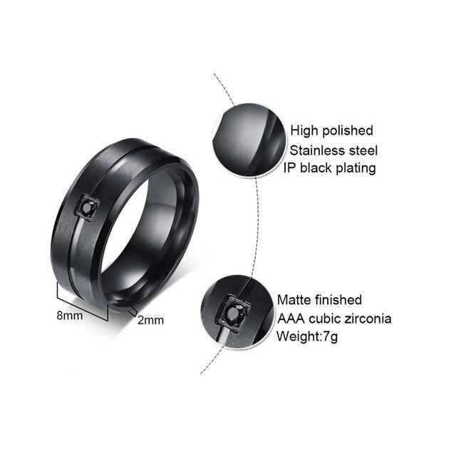 Фото кольцо мужское из нержавеющей стали с фианитом 8 мм цена