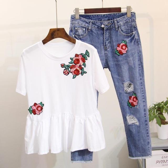 2017 verano Dingzhu bordado flores de loto Oscilación traje de ...