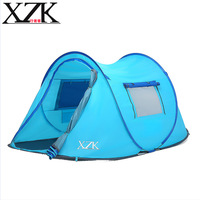 XZK 2017 New Automatic Speed Tents Outdoors 2 3 People Ultra Light Ships Camp Camping Camping