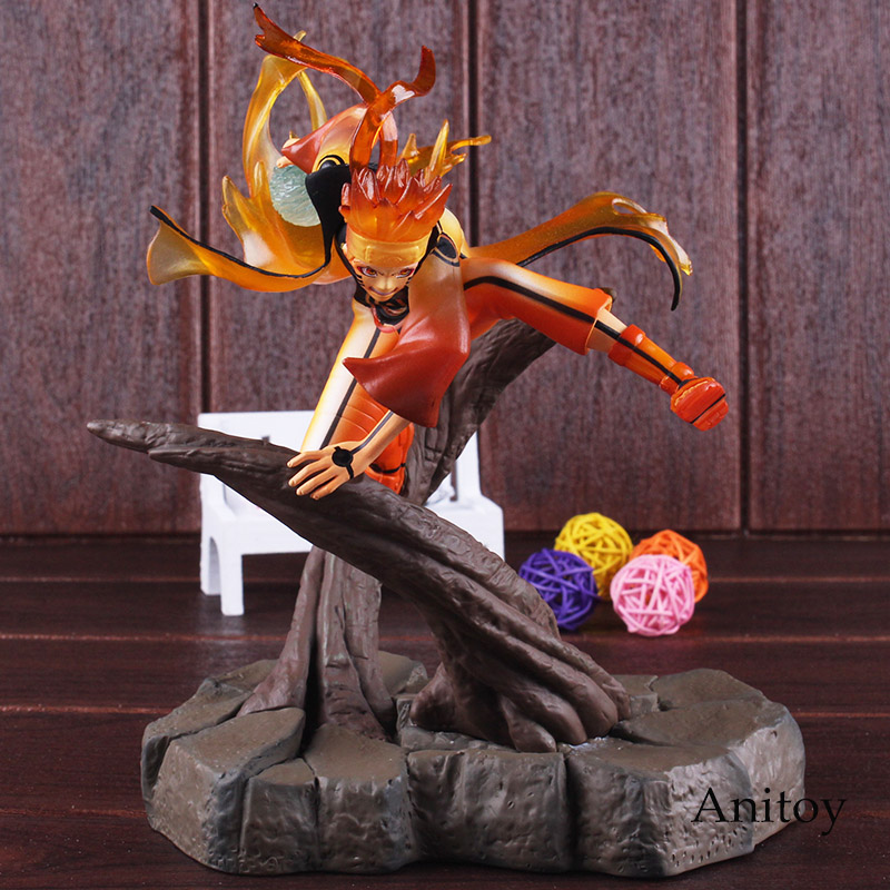 Anime Naruto Shippuden Figure Uzumaki Naruto Action Figure Seventh Hokage Chakra Ver. PVC Collectible Figurines Toy with Light 11pcs set uzumaki naruto pvc action figures bijuu kyuubi kurama gaara shukaku utakata mini collectible dolls toy for children e