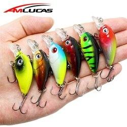 Amlucas 45 мм 4,1 г Crankbait рыболовная приманка, искусственная жесткая рукоятка, приманка для ловли басов, воблеры, Япония, Topwater, рыба приманка, прима...