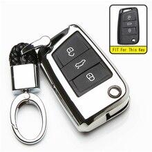 KUKAKEY TPU Key Case Cover  For Skoda Octavia Combi Superb A7 Remote Car Key Shell Bag Protection Styling Auto Accessorise цена