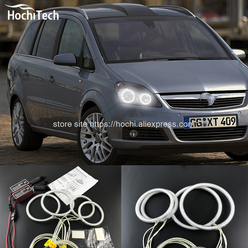 HochiTech Ccfl Angel Eyes Kit White 6000k Ccfl Halo Rings Headlight For Opel Zafira B 2005 2006 2007 2008 2009 10 11 12 13 2014