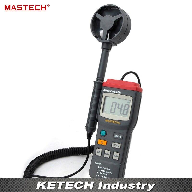 Digital Anemometer Wind Speed Air Velocity Tester MASTECH MS6250 цена