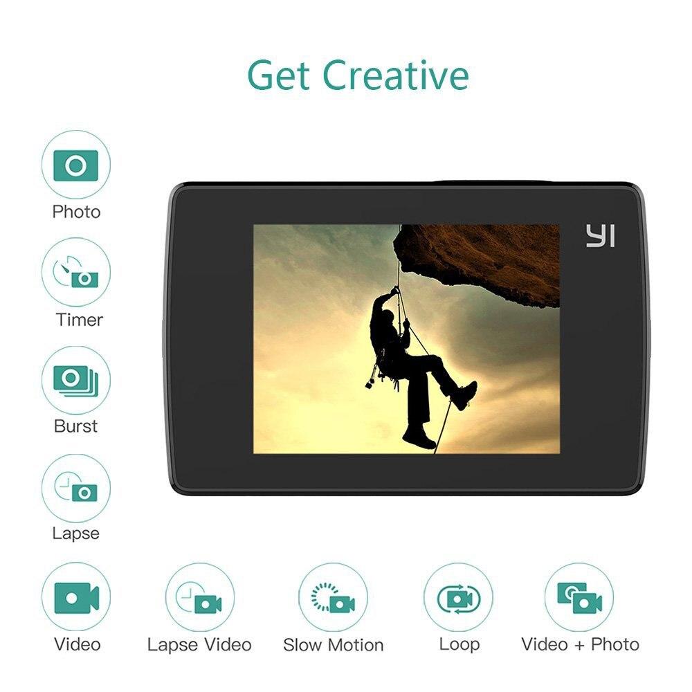 YI Lite caméra d'action pour International Xiaomi 16MP réel 4 K caméra de sport WIFI Bluetooth 2
