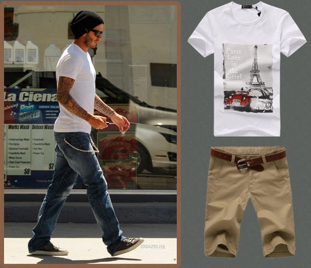 2013 Trendy T-shirt Summer Short-sleeve O-neck Print Fashion Tee Promotion,Free Shipping