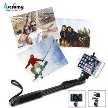 Ascromy 3 で 1 ワイヤレス Bluetooth Selfie iPhone 用スタンド × XR XS 最大 6 7 8 プラスポータブル折りたたみユニバーサル電話のカメラホルダー