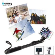 Ascromy 3 في 1 سماعة لاسلكية تعمل بالبلوتوث Selfie حامل آيفون X XR XS ماكس 6 7 8 زائد المحمولة طوي حامل كاميرا الهاتف العالمي