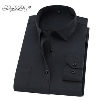 DAVYDAISY Plus Large Size 8XL 7XL 6XL 5XL 4XL Men Shirt Long Sleeved Man Business Causal Formal Shirts Brand Clothing Soft DS274