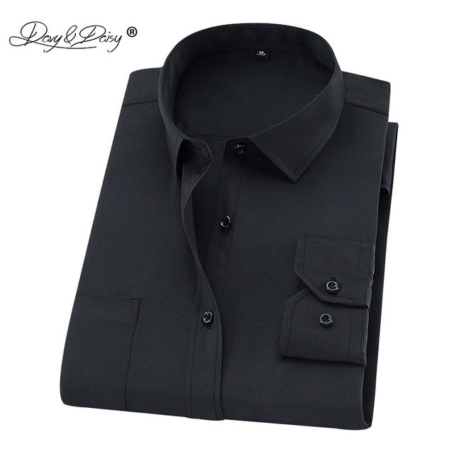 DAVYDAISY Plus Large Size 8XL 7XL 6XL 5XL 4XL Men Shirt Long Sleeved Man Business Causal Formal Shirts Brand Clothing Soft DS274