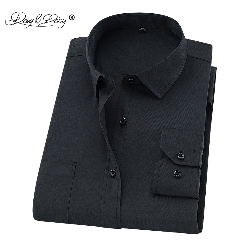 DAVYDAISY Plus Large Size 8XL 7XL 6XL 5XL 4XL Men Shirt Long Sleeved Man Busines