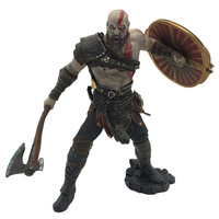 God of War Kratos Action Figure Toy Dolls 9 20cm Kratos with Blades of Chaos Leviathan Axe Shield Toy Gift for Boy Boyfriend