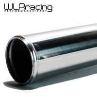 WLRING STORE- 4'' 500MM LENGTH SLIVER POLISHED HARD ALUMINUM PIPING DIY TURBO INTERCOOLER STRAIGHT PIPING WLR-PP-00-50040