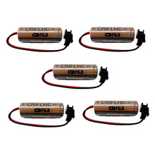 Lot 5pcs Original Battery Pack CR8.LHC 3V 2600mAh CR17450SE CR17450 PLC Industrial Lithium Batteries with Connector For FUJI FDK