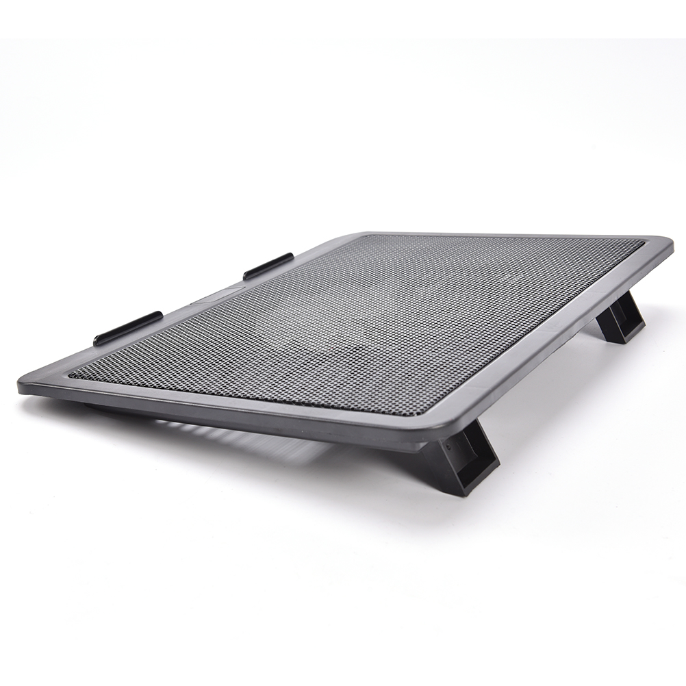 Super Quiet Laptop Cooler Cooling Pad Base Big Fan USB Stand for 14