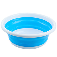 Folding Washbasin Portable travel Washbasin Outdoor Camping Multi Function Silicone Laundry Bucket Retractable Faceplate