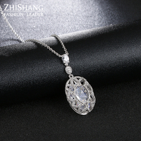 Vintage Hallow Out Round Chunky Necklace Steampun Chokers Necklaces For Women Crystal Natural Stone Necklace Collares