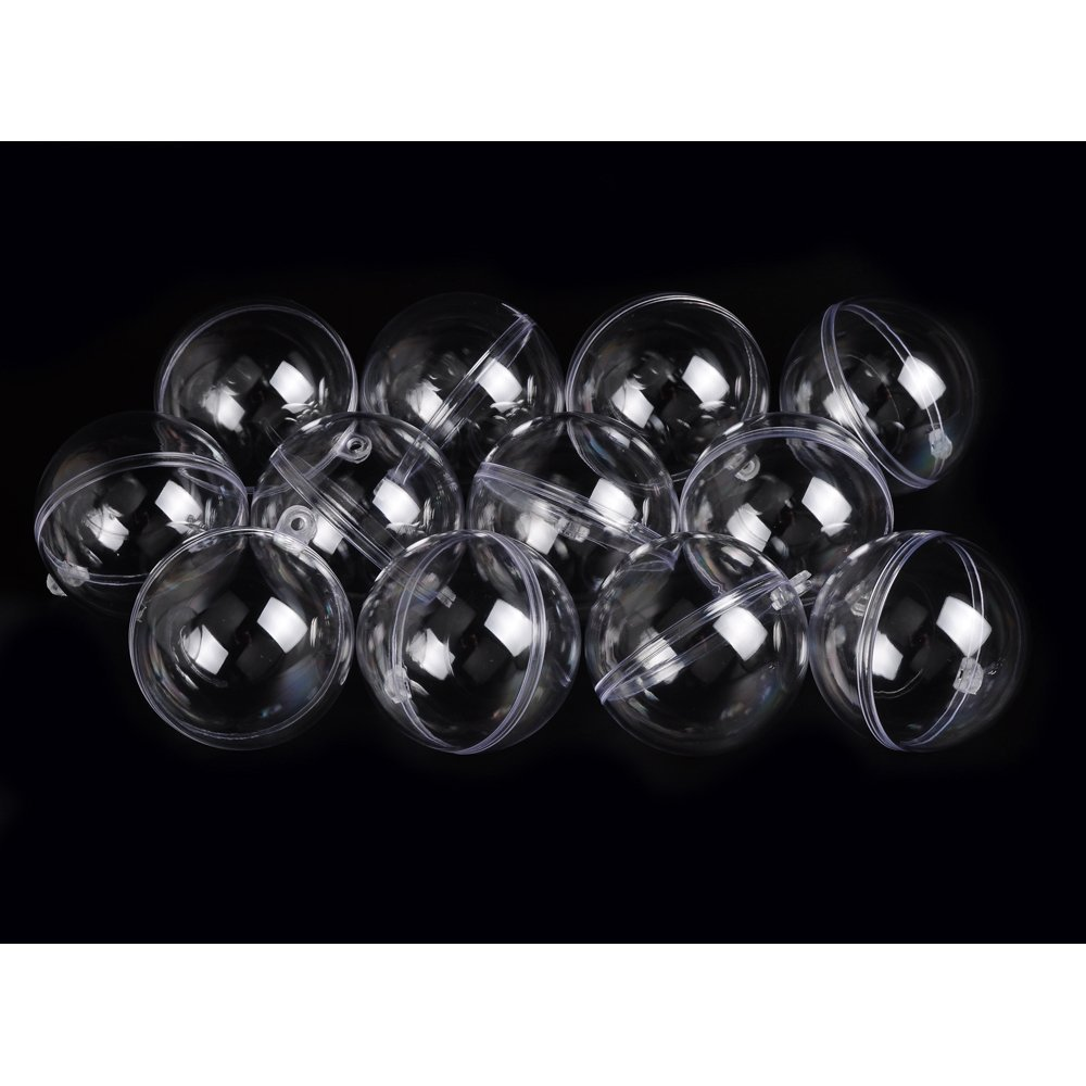 Clear acrylic fillable ornaments - Plastic Acrylic Fillable Ball Ornament Pack Of 12