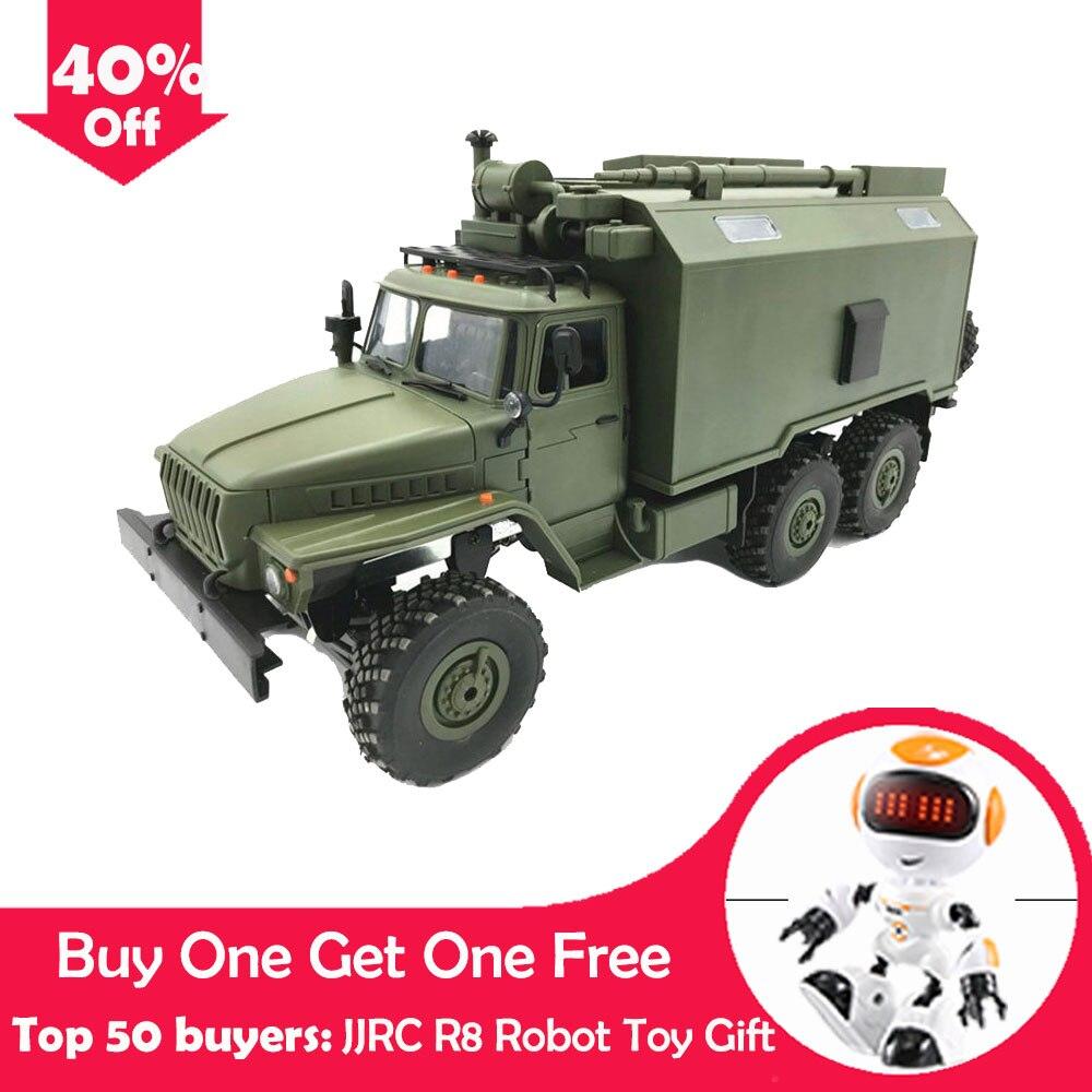 WPL B36 Ural 1/16 2.4G 6WD Rc voiture militaire camion roche chenille commande Communication véhicule jouet
