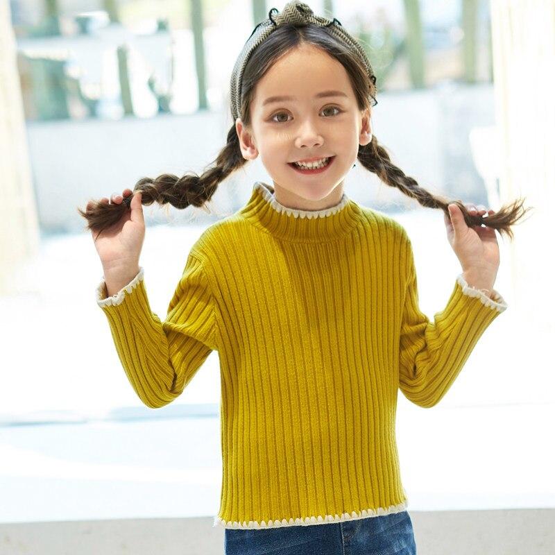 2017 Girls Underwear Sweater Wool Mustard Black Hot Pink Shirts for Teenage Kids Children Clothes Age 56789 10 11 12 Years Old футболка для мальчиков children boy clothes camisa 100% vetement garcon enfant girls tee shirts