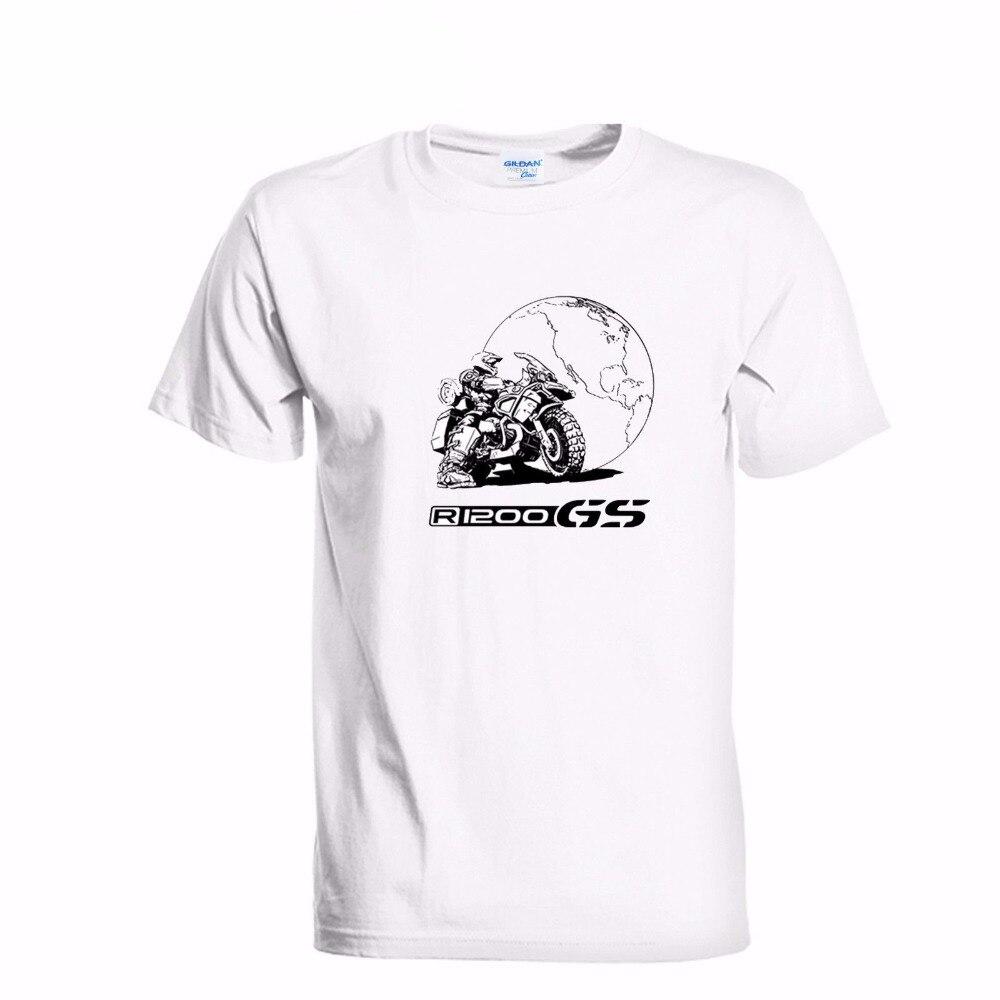 2018 Новый Для мужчин футболка модная мужская футболка motorrad R1200GS R 1200 GS Приключения Лидер продаж 100% хлопок Забавные футболки