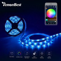 5m 300LED WiFi DC 12V RGB LED Strip Light Waterproof SMD5050 Support Phone Voice Music Control