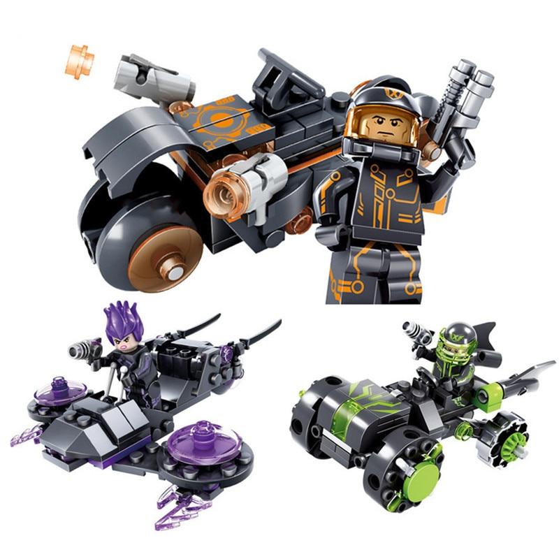 Iblocks将来警察フィギュア子供ブロックおもちゃx,エージェントシリーズ8 carsロボットヘリコプター教育