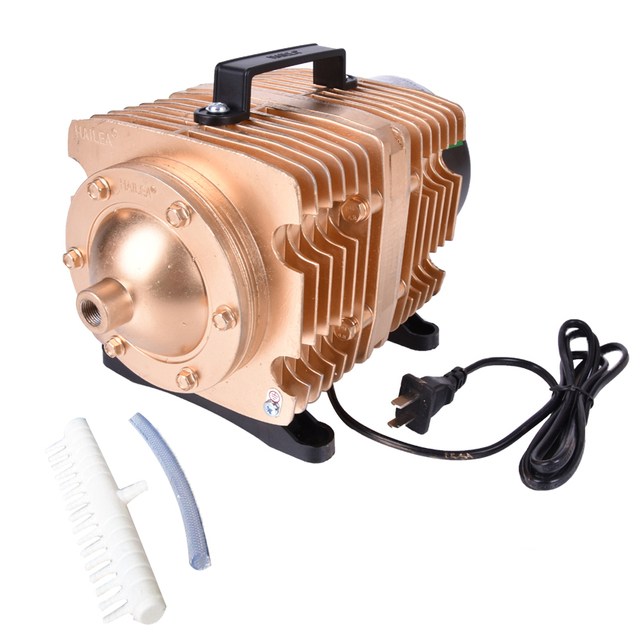 Bomba de aire electromagnética para acuario de peces, bomba de aire de compresor de oxígeno, 145L /min, 0.040Mpa, 160W, CA 220 V
