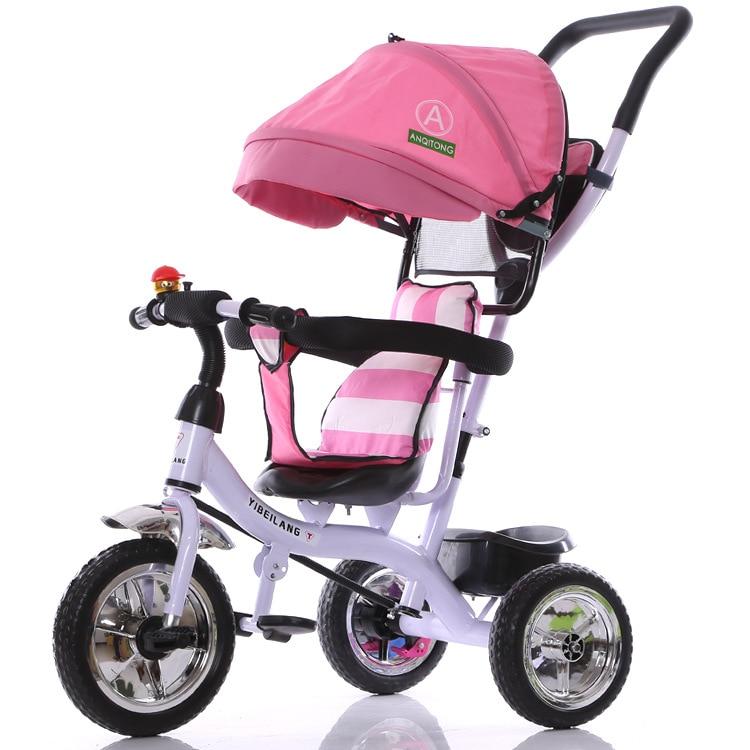 2017 nueva llegada buen precio paseo en bicicleta también triciclo carrito de bicicleta cochecito de bebé niños 1-3-5 bicicleta para niños de años