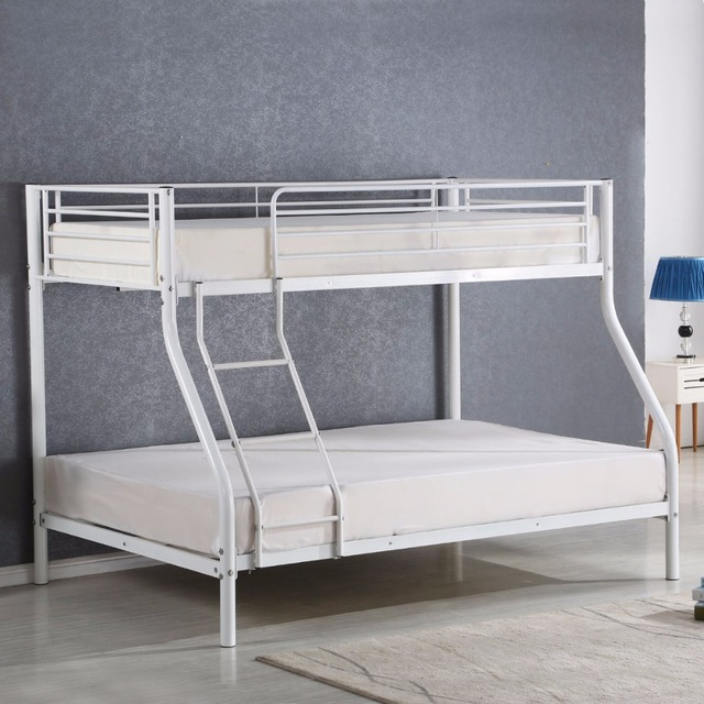 a8dcc01535046 Goplus Twin Size Full Size Metal Bunk Bed for Kids Teens Adult Dorm Space-saver  Child Parents Beds Bedroom Furniture HW56066+