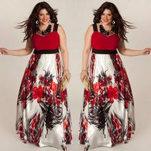 Women Plus Size Women Floral Printed Long Evening Party Prom Gown Formal Dress Style Dress Girl Mar 22(China)