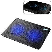 2 вентилятора охлаждающая подставка для ноутбука тонкие портативные аксессуары профессиональная внешняя подставка с питанием от USB Базовая кулер сверхмощный ноутбук