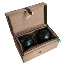 Freeshipping Wholesale and Retail Traditional Acupuncture Massage Tool / Natural Bian-stone Fitness ball/Massager Scrapping