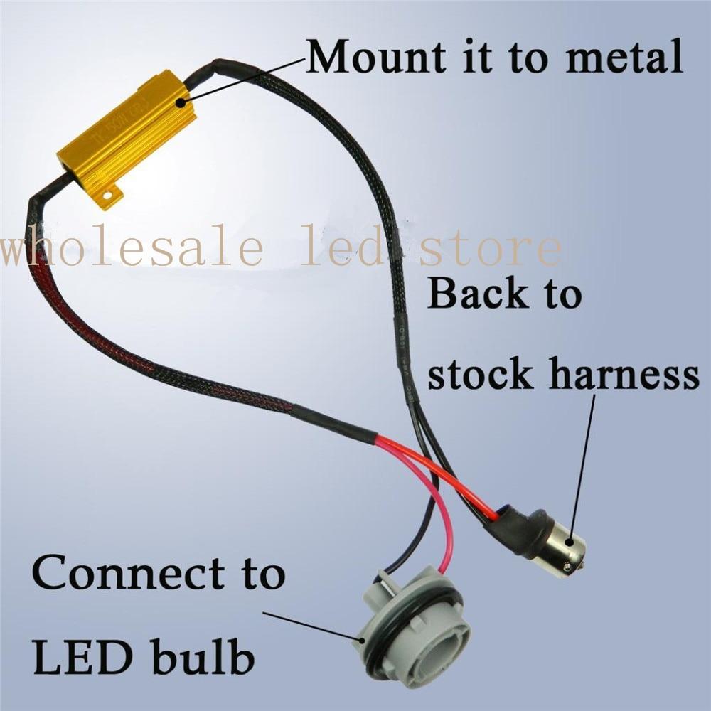 1 pair 1156 No Error Load Resistor No Decoder Berkedip untuk Lampu - Lampu mobil - Foto 2
