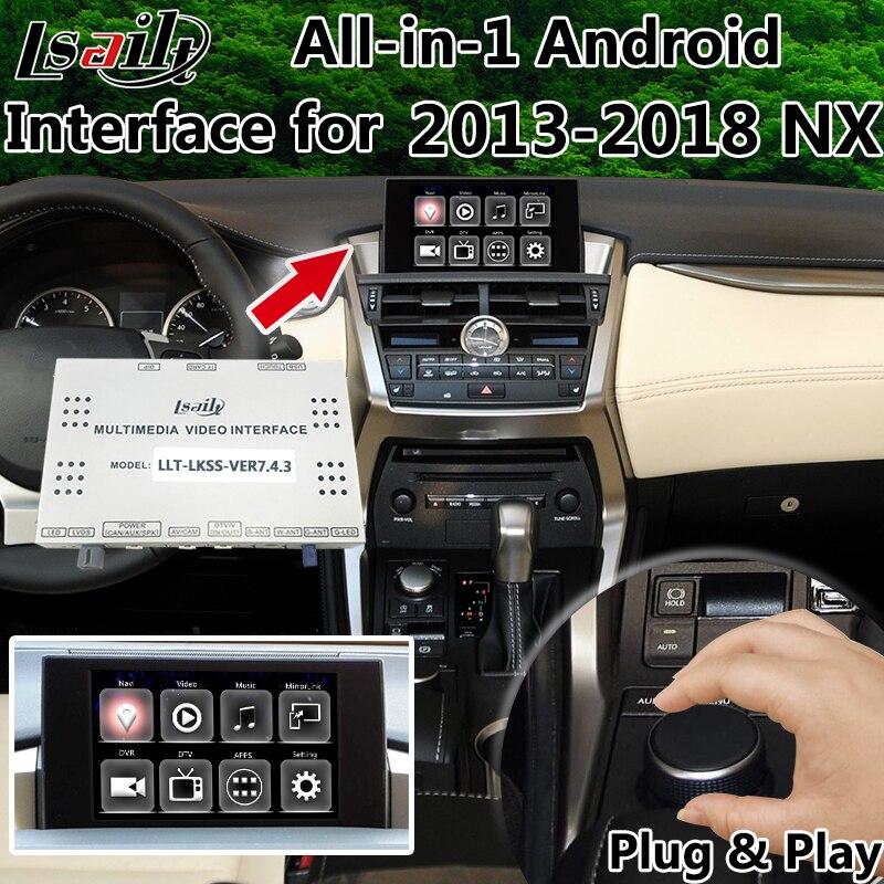Все-в-1 Android LVDS видео Интерфейс gps окно навигации для 2013-2017 Lexus NX200 NX300h с Mirrorlink OEM ручку Управление