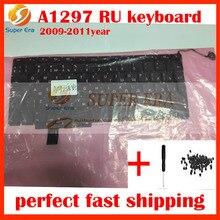 10pcs/lot New 17″ RU Keyboard For Macbook Pro A1297 Russian Keyboard Russian language Keyboard Layout 2009 2010 2011year
