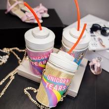 Novelty Bag Handbag Modeling Bottles Shoulder-Bag New-Fashion-Design Dip Soda Drink Skinny