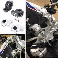 Universal Motorcycle Aluminum Handlebar Riser Kit Rise 28mm 22mm Bar Clamp Mount for Honda ATV Scooter Kawasaki BMW KTM Yamaha
