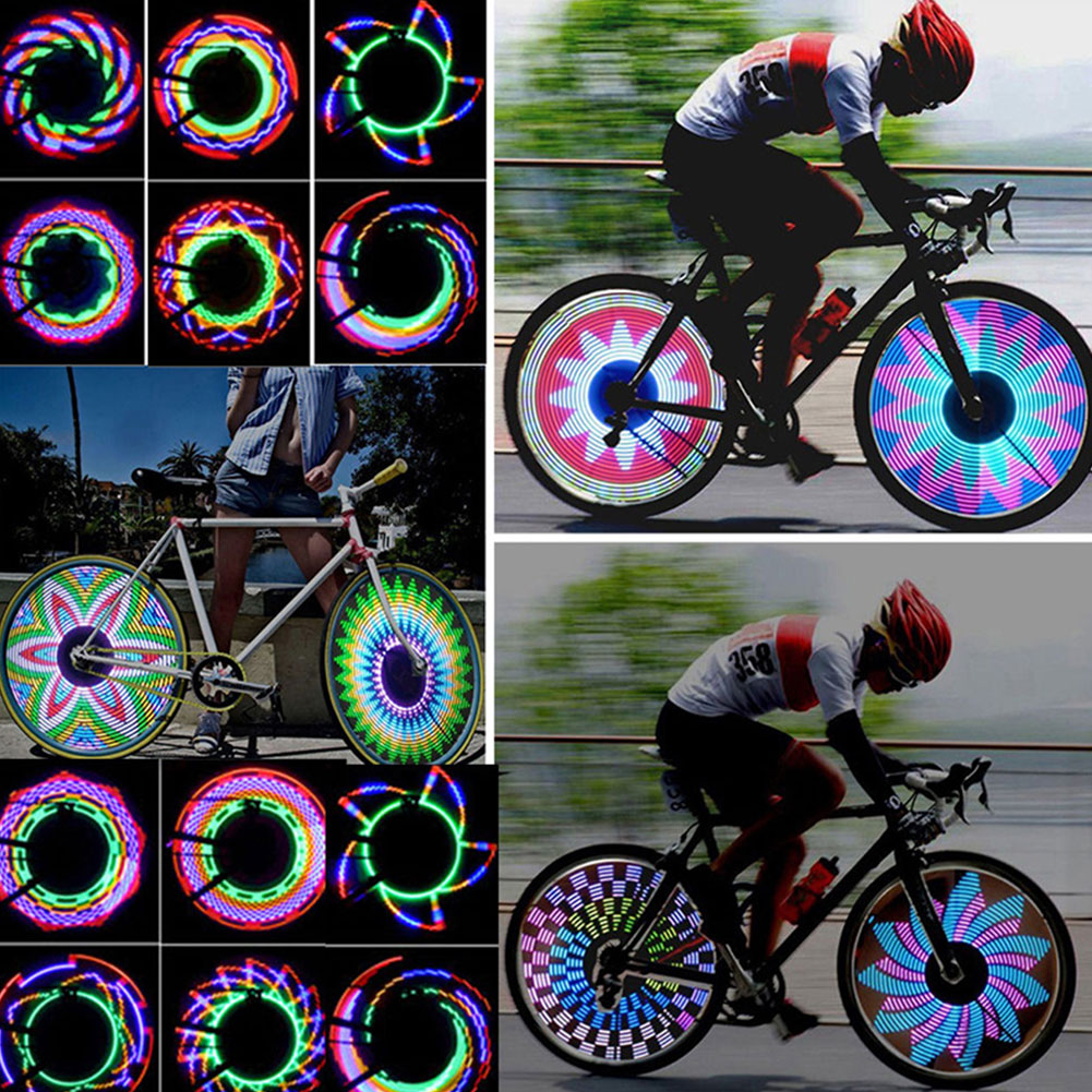 Bike Wheel Light 32 Patterns Fashion Bicycle Light Cool LED Equipment Riding Outdoor